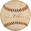 Autographs:Baseballs, 1931 St. Louis Cardinals Team Signed Baseball with PresidentHoover....