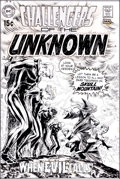 Original Comic Art:Covers, Nick Cardy Challengers of the Unknown #71 Cover Original Art(DC, 1969).... (Total: 2 Items)