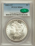 Morgan Dollars: , 1883-CC $1 MS66 PCGS. CAC. PCGS Population (1832/156). NGC Census:(1014/106). Mintage: 1,204,000. Numismedia Wsl. Price fo...