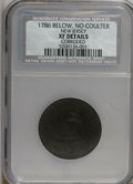 Colonials, 1786 COPPER New Jersey Copper, Below, No Coulter--Corroded--XF40NCS. XF Details. PCGS Population (0/1)...