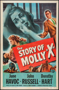 "Movie Posters:Crime, The Story of Molly X (Universal, 1949). One Sheet (27"" X 41"").Crime.. ..."