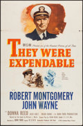 "Movie Posters:War, They Were Expendable (MGM, 1945). One Sheet (27"" X 41""). Style C.War.. ..."