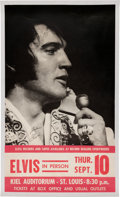 "Music Memorabilia:Posters, Elvis Presley ""In Person"" St. Louis September 10, 1970 Concert Poster. ..."