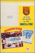 "Movie Posters:Documentary, The March of Time (20th Century Fox, 1946). One Sheet (27"" X 41"") & Lobby Cards (3) (11"" X 14"") Volume 12, Issue 11 -- ""Prob... (Total: 4 Items)"
