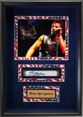 Music Memorabilia:Instruments , Bruce Springsteen Signed Harmonica in a Framed Display. ...