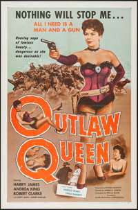 """Outlaw Queen (Globe Releasing, 1957). One Sheet (27"""" X 41"""") & Lobby Card Set of 8 (11"""" X 14""""..."""