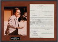 Music Memorabilia:Autographs and Signed Items, Neil Sedaka Signed American Bandstand TV Contract in aFramed Display (1960)....