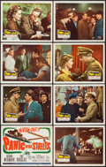 """Movie Posters:Film Noir, Panic in the Streets (20th Century Fox, 1950). Lobby Card Set of 8 (11"""" X 14""""). Film Noir.. ... (Total: 8 Items)"""