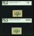 Fractional Currency:First Issue, Fr. 1242 10¢ First Issue PCGS Choice About New 58PPQ. Fr. 1243 10¢First Issue PCGS Choice About New 58.. ... (Total: 2 notes)