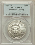 Modern Bullion Coins, 2007-W $100 One-Ounce Statue of Liberty MS70 PCGS. PCGS Population(131). NGC Census: (300). Numismedia Wsl. Price for pro...