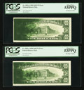 Error Notes:Ink Smears, Fr. 2032-J $10 1995 Federal Reserve Notes. Two ConsecutiveExamples. PCGS About New 53PPQ.. ... (Total: 2 notes)