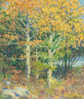 Fine Art - Painting, American:Other , FRANCIS ISABEL NEILL (American, b. 1871). Autumn Landscape. Oil on canvas. 24 x 20 inches (61.0 x 50.8 cm). Signed lower...