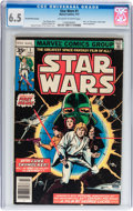 Bronze Age (1970-1979):Science Fiction, Star Wars #1 35¢ Variant (Marvel, 1977) CGC FN+ 6.5 Off-white to white pages....