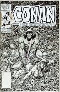 Original Comic Art:Covers, Ernie Chan Conan the Barbarian #187 Cover Original Art (Marvel, 1986)....