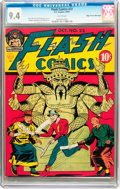 Golden Age (1938-1955):Superhero, Flash Comics #22 Mile High pedigree (DC, 1941) CGC NM 9.4 White pages....