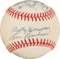 Autographs:Baseballs, Baseball Hall Of Famers Multi Signed Baseball. ...