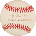 "Autographs:Baseballs, Yogi Berra ""It Ain't Over Till It's Over"" Single SignedBaseball...."