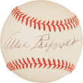 Autographs:Baseballs, Allie Reynolds Single Signed Baseball. ...