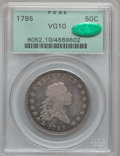 Early Half Dollars, 1795 50C 2 Leaves VG10 PCGS. CAC. O-105a, R.4....