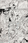 Original Comic Art:Panel Pages, George Perez and Mike DeCarlo Tales of the Teen TitansAnnual #3 Page 36 Original Art (DC, 1984)....