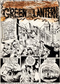 Original Comic Art:Panel Pages, Paul Reinman and Sam Burlockoff All-American Comics #55Green Lantern Title Page 1 Original Art (DC, 1944)....
