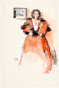 Original Comic Art:Sketches, Jeff Jones Female Figure Sketch Original Art (undated)....