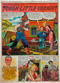 "Original Comic Art:Splash Pages, Mort Meskin (attributed) Bullseye #5 ""Tough Little Varmint""Hand-Colored Splash Page 1 Original Art (Mainline, 195..."