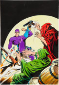 Original Comic Art:Covers, Rafael Lopez Espi Hombre Enmascarado #36 (The Phantom)Hooded Menace Painted Cover Original Art (undated)....