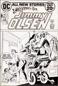 Original Comic Art:Covers, Mike Sekowsky and Bob Oksner Superman's Pal Jimmy Olsen #152 Cover Original Art (DC, 1972)....