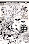 "Original Comic Art:Covers, Herb Trimpe Amazing Adventures #20 Third ""War of the Worlds""Cover Original Art (Marvel, 1973)...."