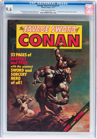 Savage Sword of Conan #1 (Marvel UK, 1977) CGC NM+ 9.6 Cream to off-white pages
