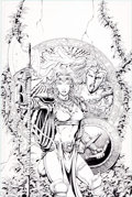 Original Comic Art:Covers, George Perez and Rick Magyar Solus #3 Cover Original Art(CrossGen, 2003)....
