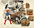 Original Comic Art:Miscellaneous, H. G. Peter Wonder Woman Specialty Illustration Original Art (c.1942)....