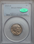Buffalo Nickels: , 1915-D 5C MS64 PCGS. CAC. PCGS Population (232/167). NGC Census:(190/77). Mintage: 7,569,000. Numismedia Wsl. Price for pr...