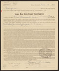 Autographs:Letters, 1957 Theodore Williams Signed Life Insurance Policy....