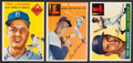 Baseball Cards:Lots, 1954 & 1955 Topps Ted Williams and Tommy Lasorda Trio (3). ...