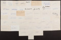 Autographs:Index Cards, Baseball Greats Signed Index Cards Lot Of 45+....