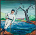 Baseball Collectibles:Others, Cap Anson Original Oil Painting. ...