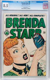 Brenda Starr #8 (Superior, 1949) CGC VF+ 8.5 Cream to off-white pages