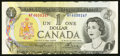 Canadian Currency: , BC-46a $1 1973 Out of Register Error Note. ...