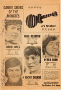 Music Memorabilia:Autographs and Signed Items, Monkees Autographed Monkee News ...