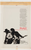 Music Memorabilia:Posters, Bruce Springsteen Cashbox Two-Color Separation Ad Art forBorn To Run (1975)....