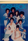 Music Memorabilia:Posters, The Jacksons Cashbox Cover Artwork (1976)....