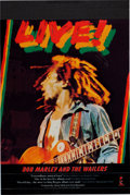 Music Memorabilia:Posters, Bob Marley and the Wailers Cashbox Four-Color Separation AdArt (1976). ...