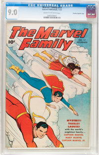 The Marvel Family #17 Crowley Copy/File Copy (Fawcett Publications, 1947) CGC VF/NM 9.0 Cream to off-white page