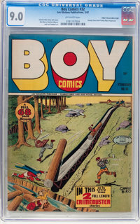 Boy Comics #32 Mile High pedigree (Lev Gleason, 1947) CGC VF/NM 9.0 Off-white pages