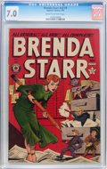 Golden Age (1938-1955):Crime, Brenda Starr V2#9 (Superior, 1949) CGC FN/VF 7.0 Cream to off-white pages....