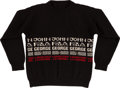 Music Memorabilia:Memorabilia, Beatles Black Girls Pull-Over Sweater (c. 1980s.)...