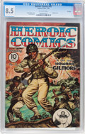 Golden Age (1938-1955):War, Heroic Comics #22 File Copy (Eastern Color, 1944) CGC VF+ 8.5 Off-white pages....