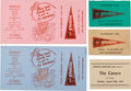 Music Memorabilia:Tickets, Cavern Club Membership Cards (Four) and Ticket (Liverpool,1963-1964). ... (Total: 5 Items)